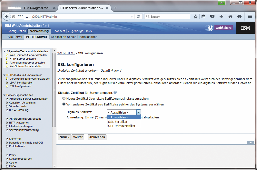 Webserver und SSL | MIDRANGE