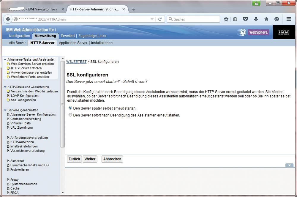 Webserver und SSL   MIDRANGE